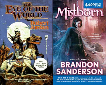 Mistborn and The Eye of the World covers
